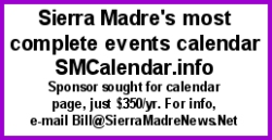 Sierra Madre Event Calendar