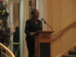 Susan Henderson introduced the Putnams as Citizens of the Year