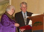 Amy and Glenn Putnam accept certificates recognizing them as Citizens of the year
