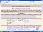 Sierra Madre's Official Community Calendar