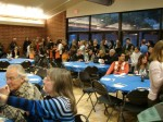 The large turnout included many parents of 3rd graders performing