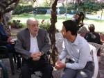 Eph Konigsberg chats with Mayor Joe Mosca