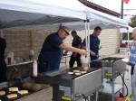SMVFA Capt. Brent Bartlett whips up some pancakes, News Net file photo from 2011 Pancake Breakfast, click to enlarge