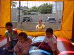 Kids enjoyed the bouncy house