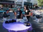 James Faulkner and Karen Moran setting up the souvenir table