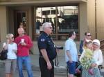 Liz and Glenn Lambdin, Fire Chief Steve Heydorff, Mayor Pro Tem Josh Moran