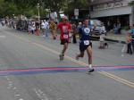Bib 263 - Joseph Umana-Walker, Pasadena, CA - 24th place, 1:22:06; Bib 192 - William Prentice, Pasadena, CA - 25th place, 1:22:10