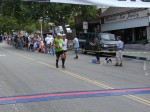 Bib 234 - Dan Sprague, Pomona, CA - 38th place, 1:27:41; Bib 81 - James Flanagan, Davis, CA - 39th place, 1:27:45