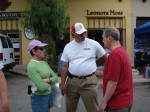 Dr. Bud (Budincich) of SM Rotary chats with some folks