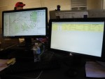 GIS software at working during Joshua Tree training exercise.  Photo courtesy of SMSR