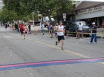 Bib 184 - Victor Ortega, Arcadia, CA - 1:42:03, runner in white shirt unknown