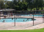 The pool was a popular hangout in the 90+ heat