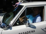 Ted Saraf in his vintage police car gets ready to lead off the parade