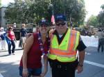 Kristi McClue and Officer John Ford