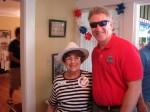 Phyllis Chapman and Mayor Buchanan