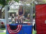 Kristi McClure in dunk tank