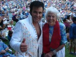 Elvis wished Mama Pete a happy 95th birthday when he performed in 2011. News Net file photo