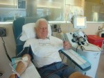 Russ Anderson celebrated his 79th birthday with his 259th platelet donation