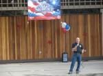 Lt. Len Hundshammer addresses the crowd