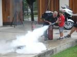 Kids got a chance to put out fires