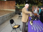 De Alcorn was one of the Friends' volunteers serving wine