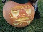This pumpkin uses a special concave carving to create a 3-D effect