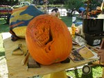 A work in progress.  When done, there will be a fiery skull carved into it