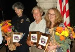 Chief Diaz, Paul Hagen and Toni Buckner were recognized for retirement