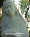 Mary in gesso stage