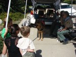 Search dog booth was popular