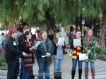 The Citrus Singers Alumni Carolers performed throughout Sierra Madre