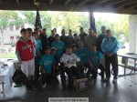 Members of the Pony League with VFW members