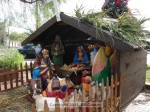 The recently restored creche survived, all huddled under the roof