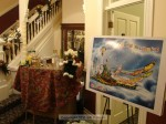 """A colorful rendering of the 2012 float """"Colorful Imagination"""" was in the foyer as guests arrived"""