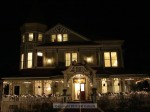 The Pinney House was all lit up for the event, and decorated for Christmas
