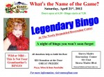 Legendary Bingo Next Saturday