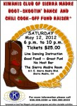 Kiwanis to Host Boot Skootin' Chili Cook-off Fundraiser