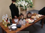 Cesare and Sherry put out a nice spread (don't want too much food around furniture...)