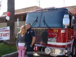 It wasn't just the kids that wanted their pictures taken with the fire engine...