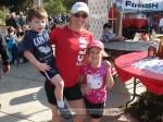 Multiple ladies' winner Sharon Pevsner with her kids