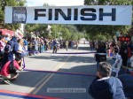 First female Michelle Barton approaches the finish line, Laguna Niguel, 1:19:38