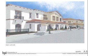 Looking east at proposed Kensington project from about the front of the PD