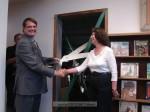 Rotary President Tom Brady and Patricia Hall