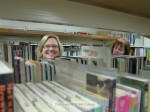 "Children's Services Director Meegan Tosh in ""the stacks"""