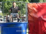 Chamber President Ed Chen in the dunk tank