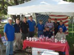 Members of the VFW gathered at their booth