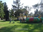 The inflatables and the rock climbing wall were a big hit, again, this is early