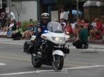 Sgt. Joe Ortiz of SMPD cleared the way for the parade.