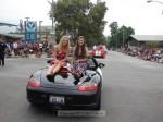 Rose Float princesses Kacey Benson (l) and Tracy Jantzen