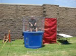 SMPD Chief Larry Giannone takes a turn in the dunk tank